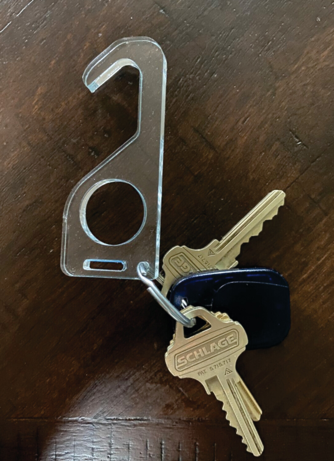 Door Pull and Key Ring