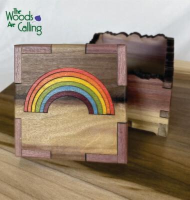 Rainbow on Rainbow Treasure Box