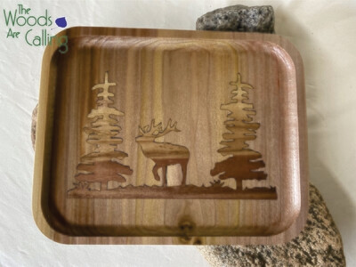 Elk in the Woods In-lay Tray