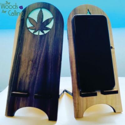 Pot Leaf Phone Stand