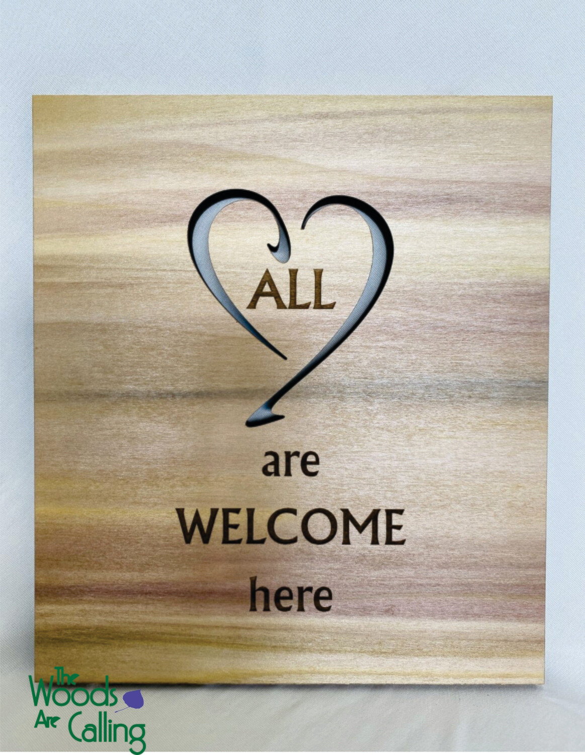 All are welcome here Plaque