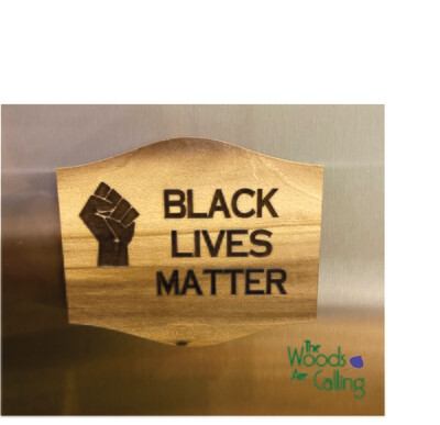 Black Lives Matter with fist