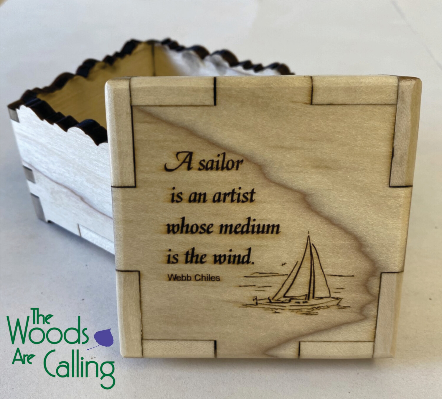 Sailors are artists Quote Box