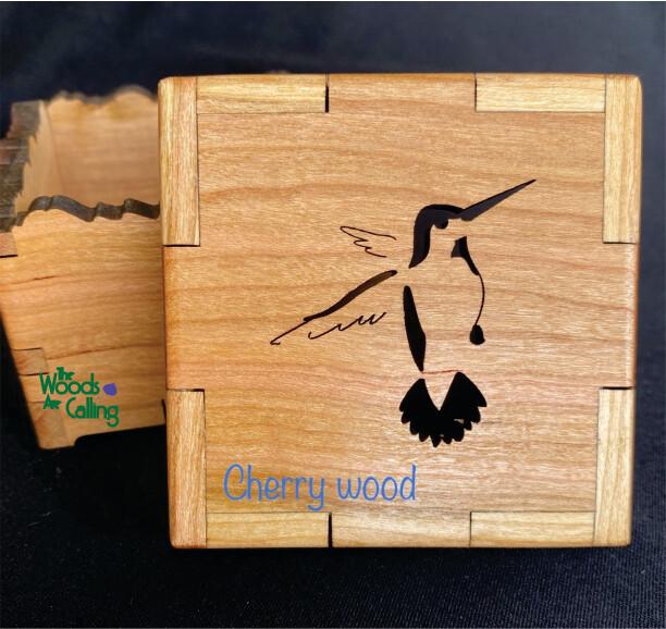 Hummingbird Nature Box - Cherry