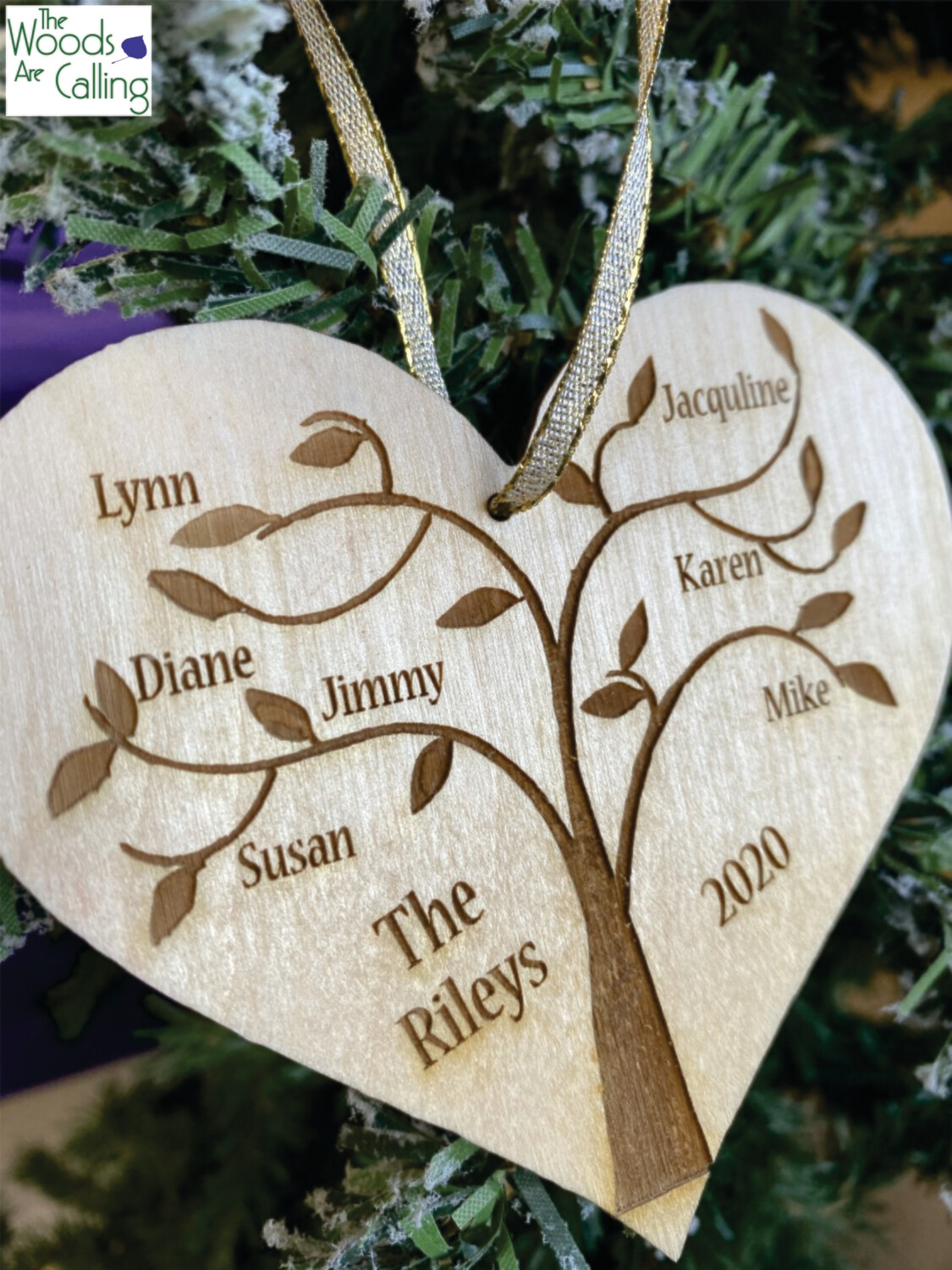 Family Tree Christmas Ornament