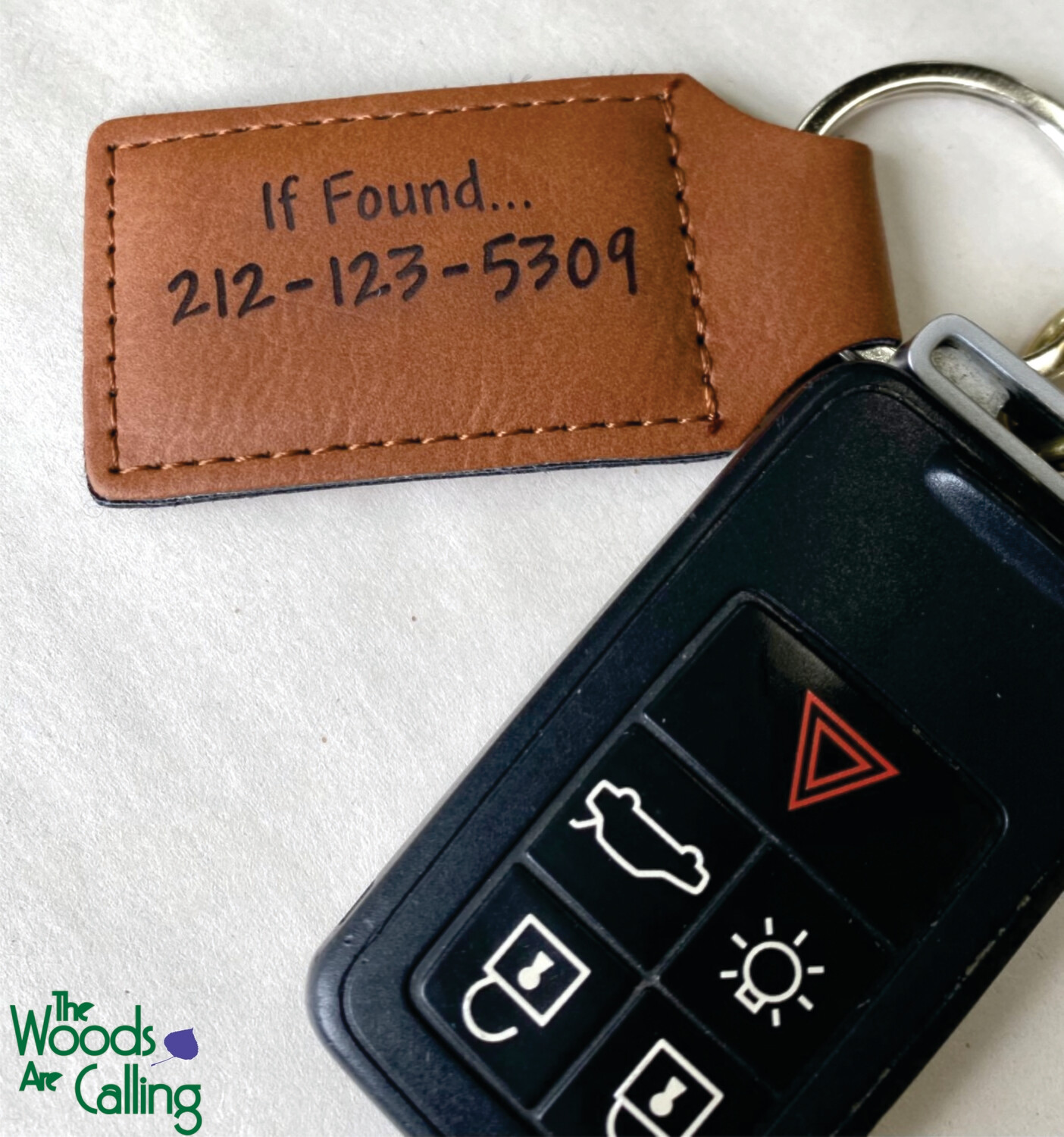 Keyring: Faux Leather