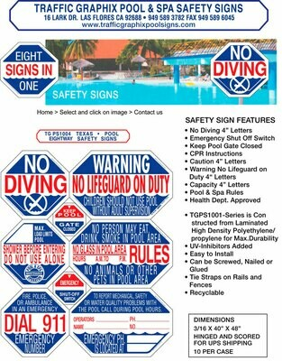 Texas Pool Safety Sign