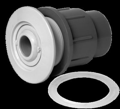 Fg Wall Fitting W Eyeball Deep Socket, Grey