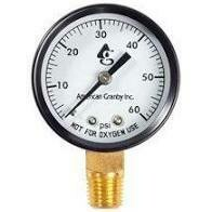 Gauge Back Mount Pressure