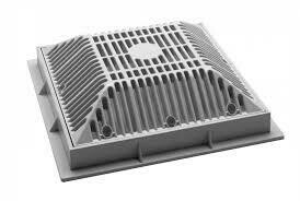 Pool Frame & Grate 9In X 9In White