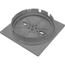 Square Lid And Collar Assy, Gray