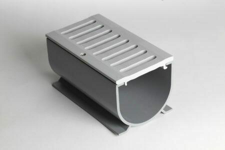 3 In. Water Hog Deck Drain Grey 6ft