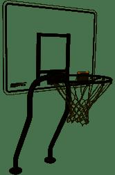 "PRO 12"" Offset Basketball Set W/ Anchor"
