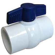 Ball Valve 1-1/2In SxS PVC w/Blue Handle