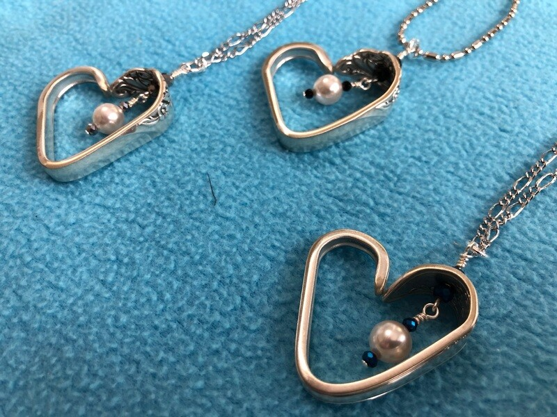 Vintage Spoon Heart Necklaces