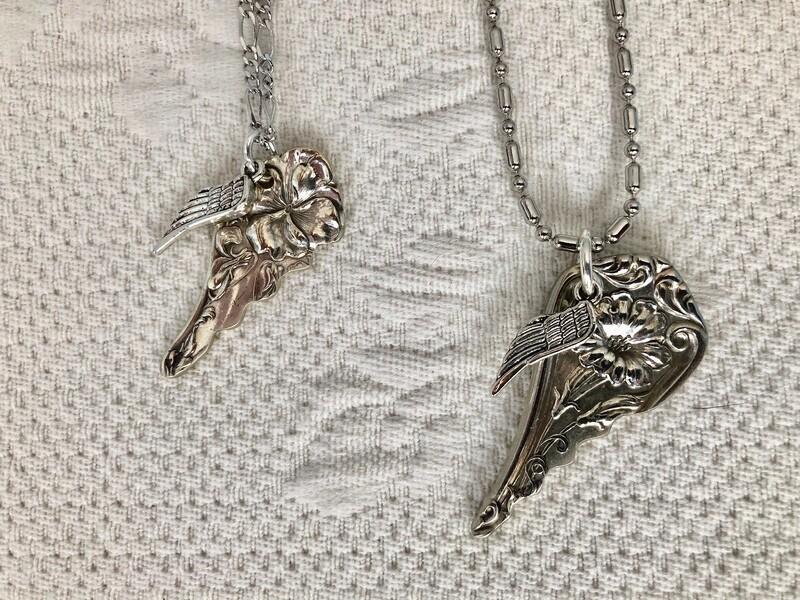 Vintage angel wing
