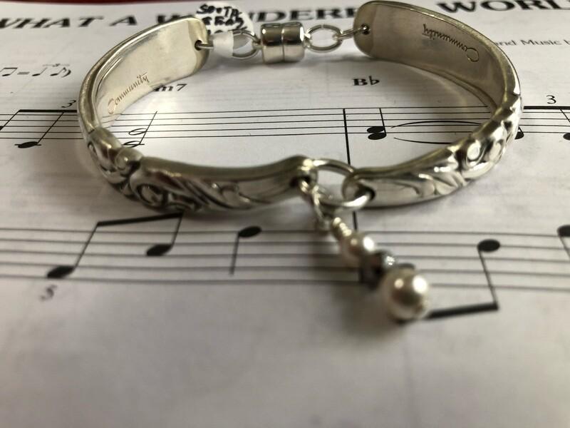 Thin line south seas spoon bracelet