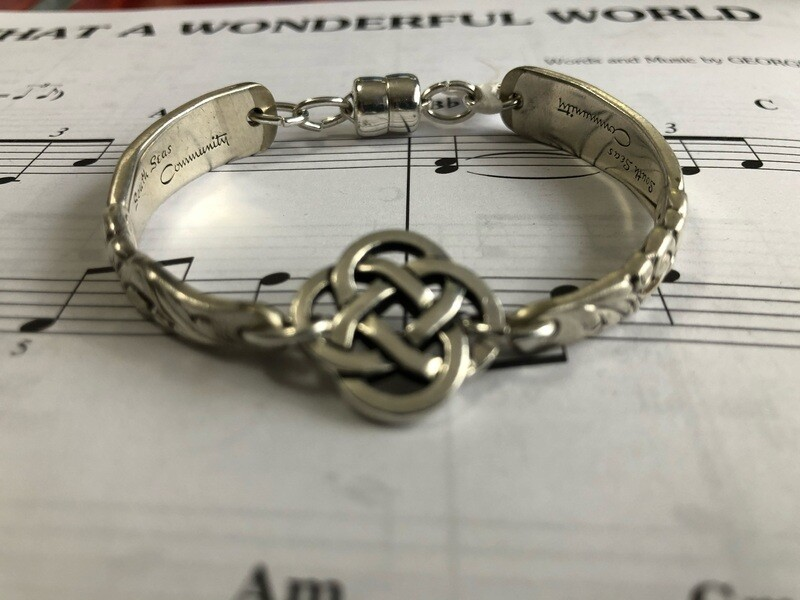 South Seas spoon bracelet with Celtic knot