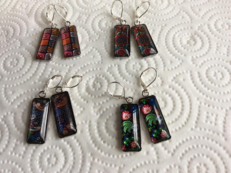 Italian floral earrings