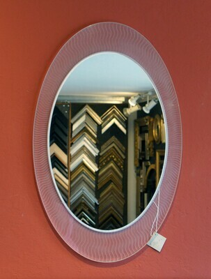 Oval Lucite Mirror