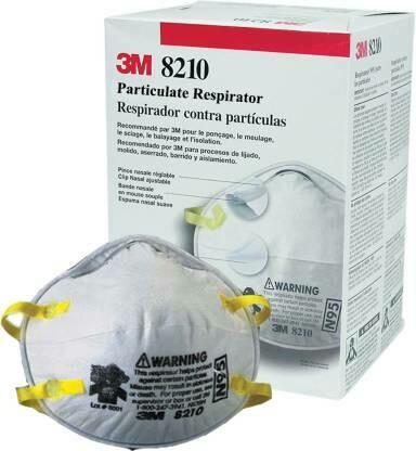 3M Particulate Respirator 8210 Niosh N95, 160pc/carton