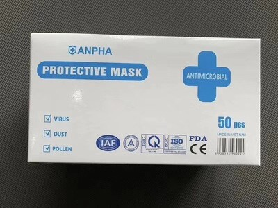 Anpha Protective Mask Antimicrobial, 50 pc / box