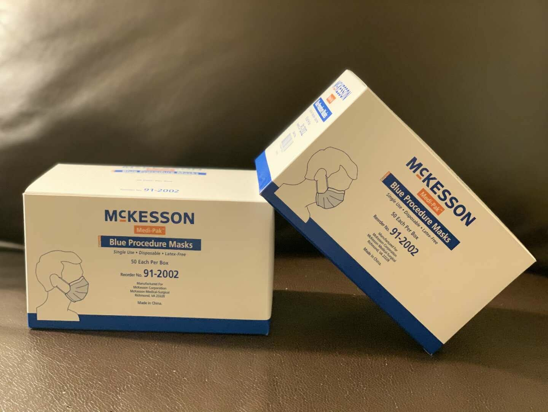 McKesson Medi-Pak Blue Procesure Masks, 91-2002, 50 pc