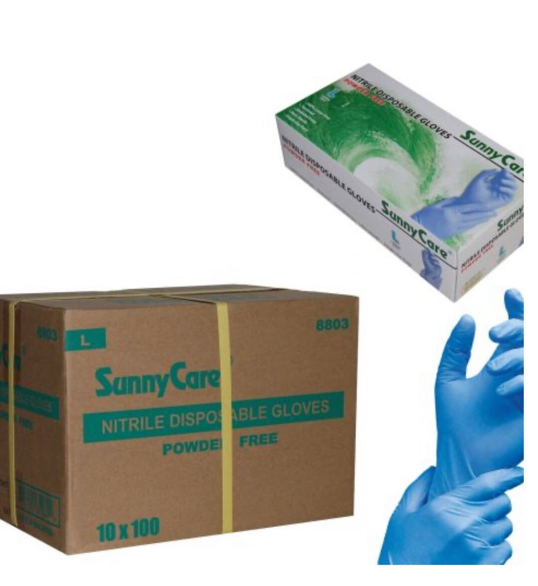 SunnyCare Glove Nitrile Non-medical, 10 boxes, 1,000pc