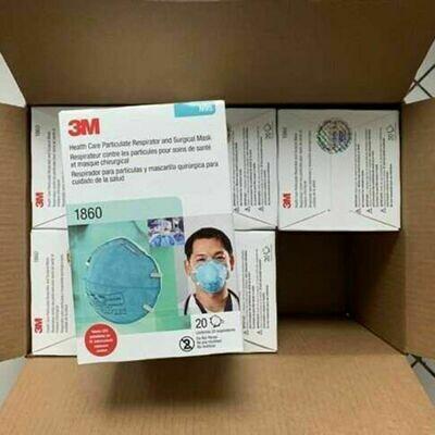 3M 1860 N95 Medical Particulate Healthcare Respirator 1 Carton, 120pc