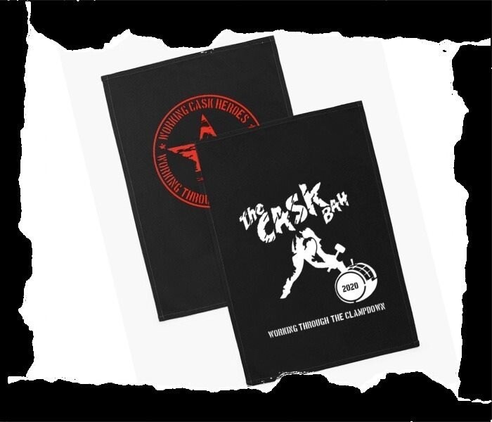 The Cask Bah Tea-Towels (Double Pack - 1 X Red + 1X White)