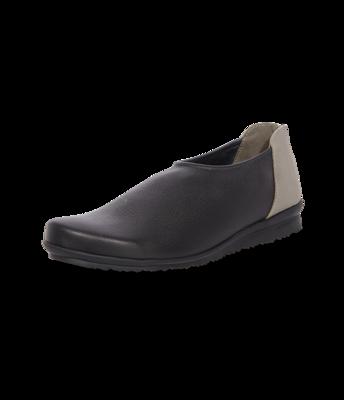 arche Slipper – Barryo Leder schwarz/grau