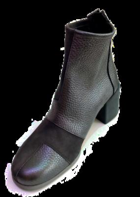 arche Boots  – Anglow Leder Stiefelette schwarz / grau Metallic