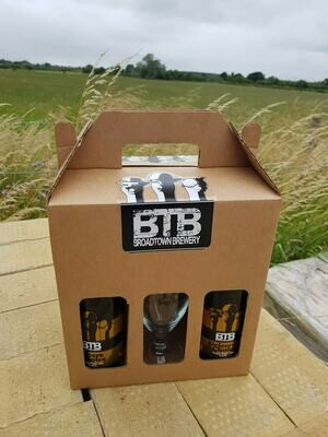 2 x Bottles and 1 Glass gift set