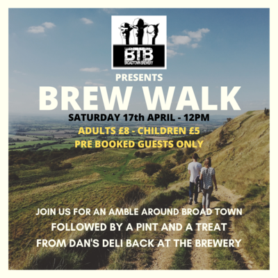 Brew Walk 17th April Child (Under 18) Guest Booking