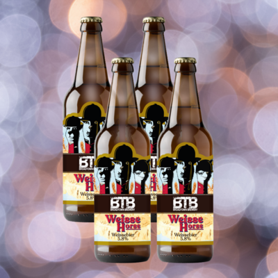 Weisse Horse Wheat Beer 5.8% Abv  4 x 500ml
