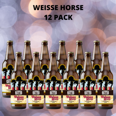 Weisse Horse  Wheat Beer 5.8% Abv Twelve Pack
