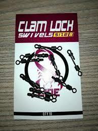 Clam lock swivels