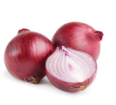 Oignons rouges. Orgeval.  500 grammes env.