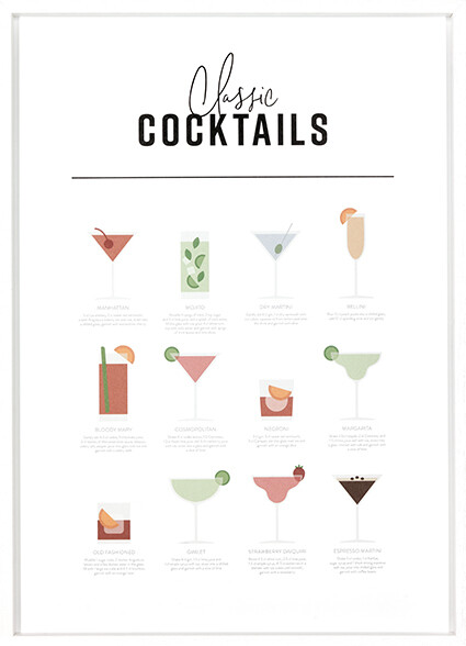 Classic Cocktail Guide Print