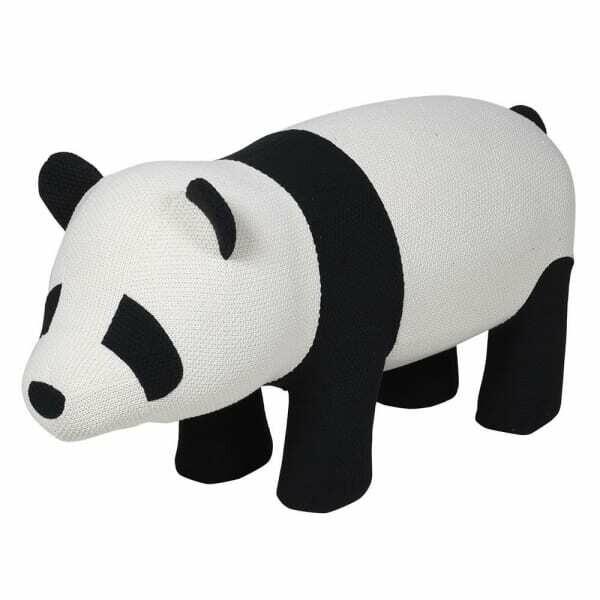Knitted Panda Stool