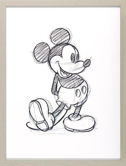 Disney Mickey Mouse Sketch Print