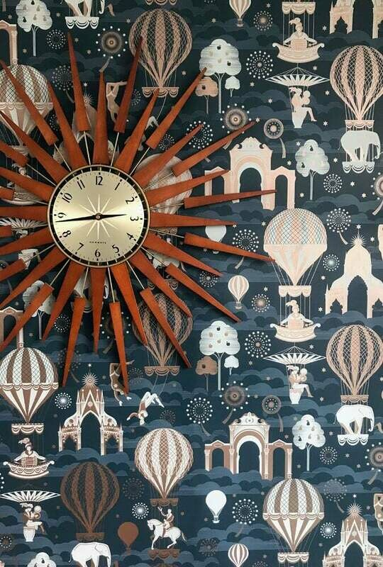 Pleasure Garden Midnight & Copper Wallpaper