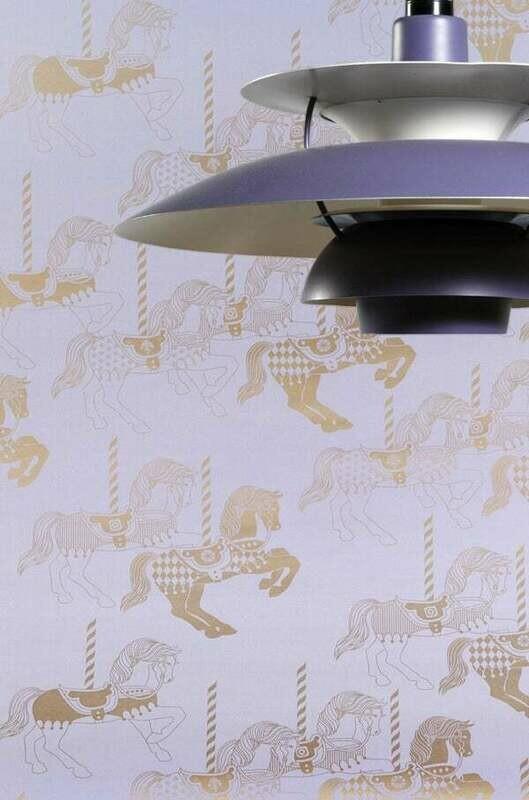 Fayre is Fair Heather & Gold Wallpaper