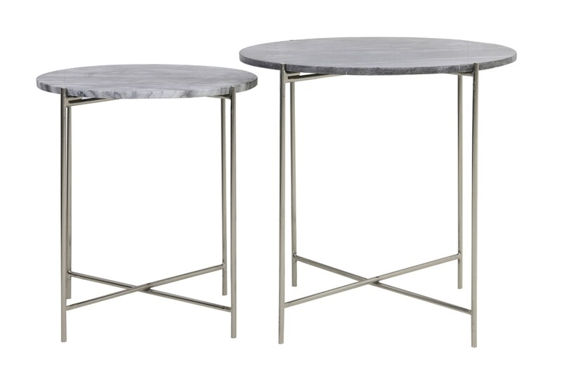 Lilah Marble & Nickel Tables