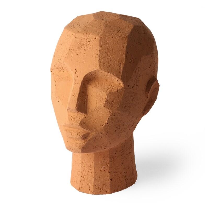 Abstract Head Sculpture Terracotta