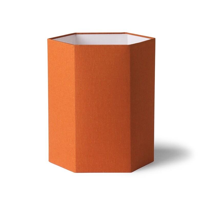 Hexagonal Orange Lampshade
