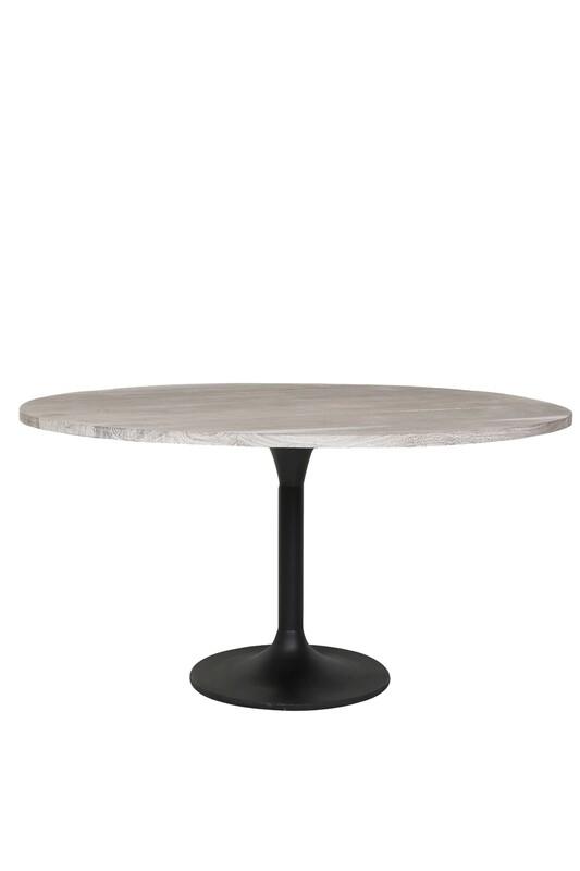 Biboca Acacia Wood Grey-Black Dining Table