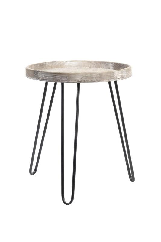 Kenzie Wood Light Brown Side Table