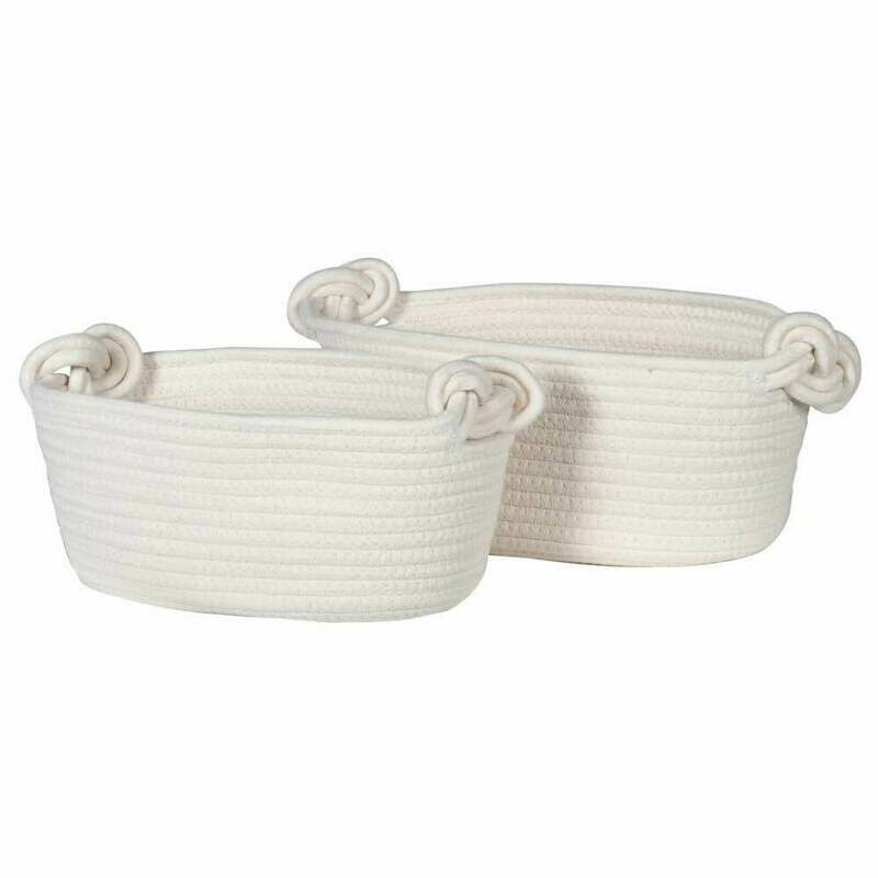 Knot Handle Rope Baskets - Set of 2