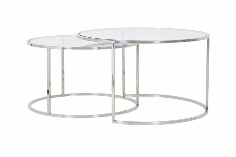 Bonnie Nickel Coffee Table Set